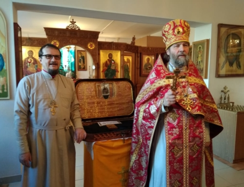Крестный ход в ПНИ №7 с рясой Св. Иоанна Кронштадского